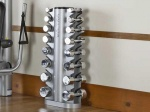 DB8 VECTRA FITNESS SILVER 8 PAIR VERTICAL DUMBBELL STAND