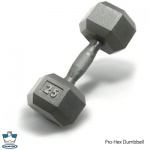 PRO HEX DUMBBELLS WITH STEEL ERGNOMIC HANDLE